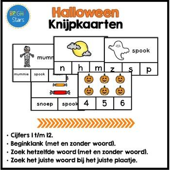 73 Halloween Knijpkaarten