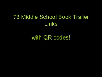 73 Middle School Book Trailer Links for Library/Media Centers