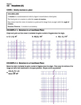 7.3 Rotations (A)