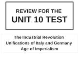 WORLD UNIT 10 LESSON 11. World History Unit 10 Test Review POWERPOINT