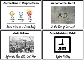 74 Common Latin Phrases: Flashcards