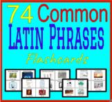 74 Common Latin Phrases: Flashcards