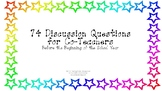 74 Discussion Questions for Co-Teachers Before the School