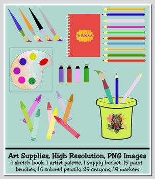 74 School Art Images, PNGs, High Resolution, Commercial Use OK