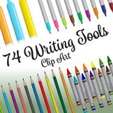 74 Writing Utensils, Premium Collection (Vector Art)