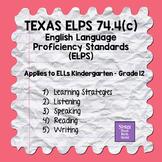 74.4c ELPS English Language Proficiency Standards