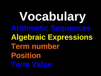 7.4c Express your sequence making algebraic expressions