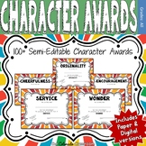Character Award Certificates - Red and Orange - 100+