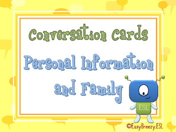 75 Conversation Cards: Personal Information & Family