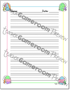 75 Easter Writing Paper
