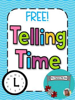 75 Followers FREEBIE! Telling Time