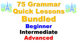 75 French Grammar Quick Lessons Bundled (not verbs): Beginner to Advanced