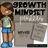 75 Growth Mindset Posters {Burlap Background}