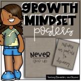75 Burlap Growth Mindset Posters
