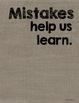 "75 Large Burlap Growth Mindset Posters {18"" * 24""}"