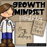75  Light Burlap Growth Mindset Posters