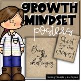75  Light Burlap Growth Mindset Posters