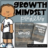 75 Wooden Growth Mindset Posters
