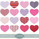 Hearts Clipart Washi Hearts Clip Art Scrapbooking Printabl