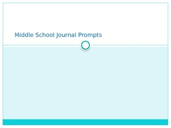 75 Middle School Journal Prompts