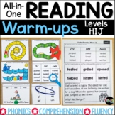 Guided Reading Warm-ups Levels HIJ | Distance Learning