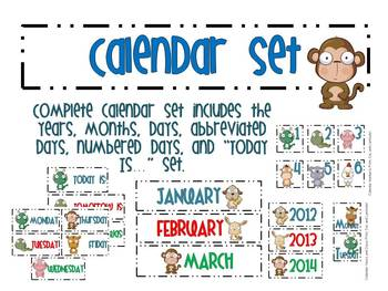 75 Piece Calendar Set!