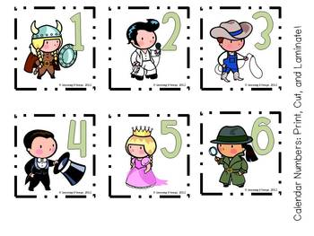 "75 Piece Calendar Set! ""Children Make Believe"""