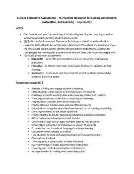 75 Practical Strategies for Linking Assessment, Instruction, and Learning