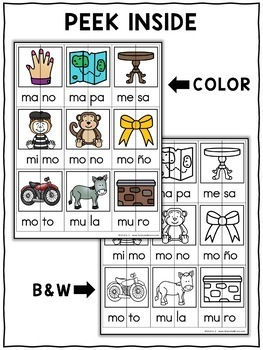 Word Work Puzzles - Spanish Syllables