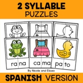 Spanish Word Work Puzzles - Two Syllables