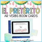 Spanish Preterite Tense Ar Verbs BOOM Cards - Distance Learning