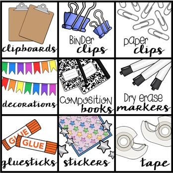 75 Square Labels For Your Classroom-- Fits Target Dollar Spot Pockets Perfectly!