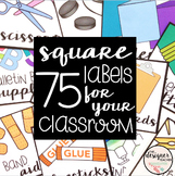 Editable Square Labels | Target Adhesive Pocket Labels | Classroom Labels