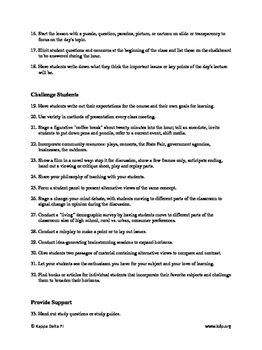 75 Tips for Creating Life-Long Learners