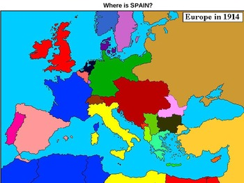 WORLD UNIT 11 LESSON 1c. WWI#1: Map of 1914 Europe POWERPOINT