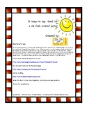 75 Ways to Say Good Job - a QR Code Enabled Poster