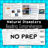 Natural Disasters, Severe Weather Reading Comprehension Bundle