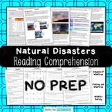 Natural Disasters, Severe Weather Reading Comprehension Bundle