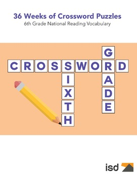 75 New Crossword Puzzles  -  6th Grade National Vocabulary (36 Weeks)