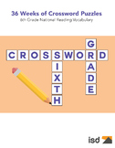 75 New Crossword Puzzles  -  6th Grade National Vocabulary