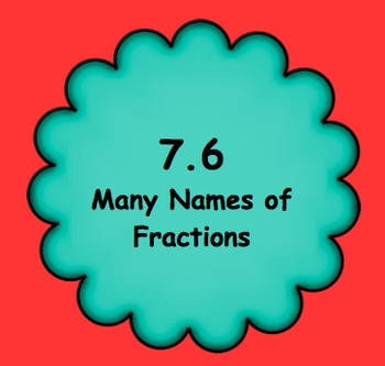 7.6 Many Names of Fractions - Everyday Math, Grade 4