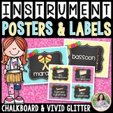 Musical Instrument Labels, Flash Cards, Sorting {Chalkboar