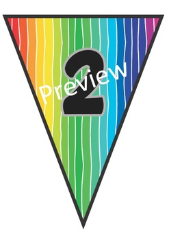 76 Rainbow Banners for classroom decoration, parties and much more!