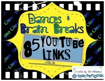 85 Dances & Brain Breaks - YouTube Video Links for Video C