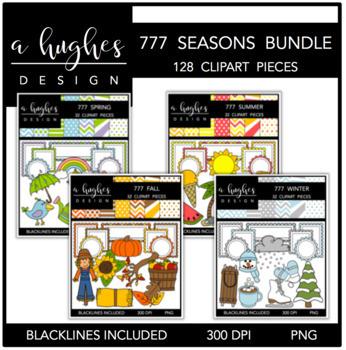 777 4 Seasons Clipart Bundle {A Hughes Design}