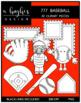 777 Baseball Clipart Bundle {A Hughes Design}
