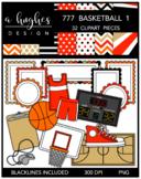 777 Basketball Clipart Bundle 1 {A Hughes Design}