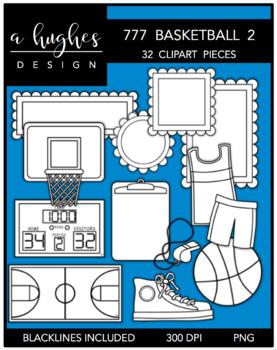 777 Basketball Clipart Bundle 2 {A Hughes Design}