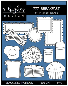 777 Breakfast Clipart Bundle {A Hughes Design}