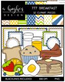 777 Breakfast Clipart Bundle {A Hughes Design}